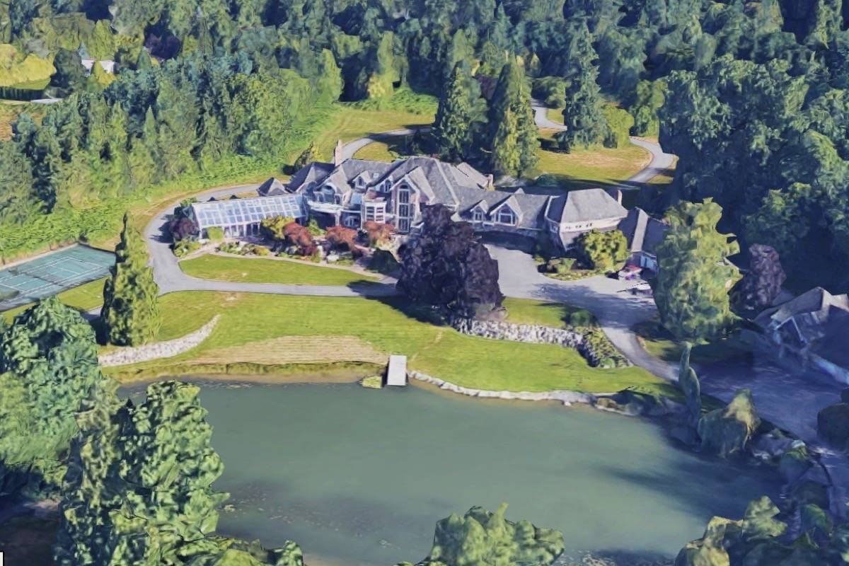 A South Surrey property remains the most expensive in the Fraser Valley, at $30 million. (Google Maps)